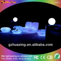 wholesale nightclub furniture led light 2 set sofa