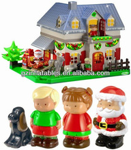 Christmas inflatable house Santa cartoon for advertising
