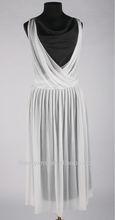 elegant maxi chiffon dress with plunging neckline