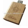 agradable logo grabado a láser santa biblia usb flash drive