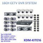 2013 HOT!!! 16ch Economic dvr Sony ccd cctv camera and 16 ch H.264 dvr surveillance kit