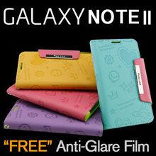 Samsung Galaxy Note2 GT-N7100 Feelook Pattern PU Leather Wallet Phone Case