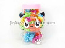 Hot Selling 60 PCS Child Plastic Cartoon Cat Toys Plastic Building Blocks Toys