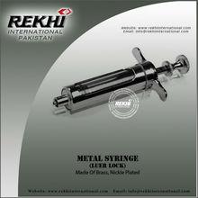 Pakistan Metal Syringe,Metal Vaccinator,Luer Lock Vaccinator Syringe,