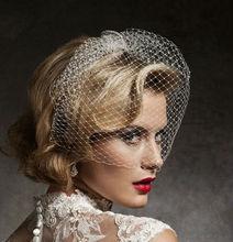 2014 Hot Sale Stunning Net White Bird Cage Wedding Veils
