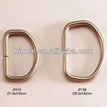 zinc alloy D rings metal O ring for garments and bags DR-015