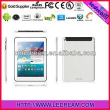 7.85 inch tablet pc Android 4.2 3G SIM card slot MT8382 quad core/DVB-T2 /ATSC /ISDB-T tablet pc