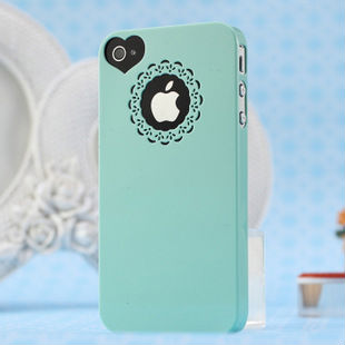 android phone accessory Sweet heart candy color super slim Plastic phone case for i phone
