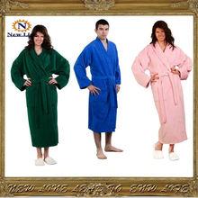 Pink Shawl Women Bathrobe Terry/Velour