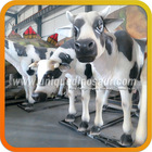Artificial life size resin animal statues of cow