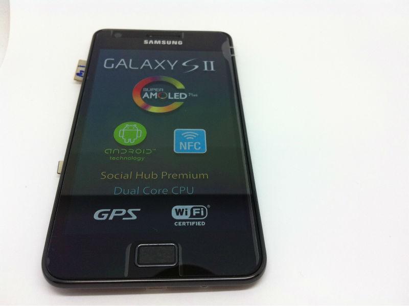 Gh97-12625a véritable LCD gt - i9100 I9100P MEA FRONT-OCTA LCD noir SAMSUNG Galaxy S2 SII