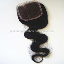 New arrival Top quality Wholesale 5a grade human Virgin Brazilian Hair piece cheap lace top closure