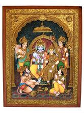 Tanjore Gold Painting Ram Darbar