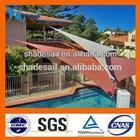 High density HDPE virgin beige color sun triangle shade sail