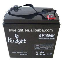 Kweight battery 6V 150AH AGM VRLA battery for ups /solar smart solar inverter