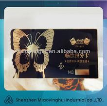 High standard brushed, glossy, matt black finish, printing, etching metal membership VIP black metal business cards