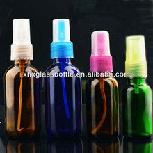 10ml 30ml 50ml 100ml boston round amber essential oil spray bottles with mist spray