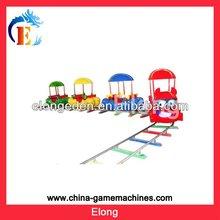 Theme park children rides train track / model train track