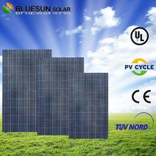 Bluesun brand 25 years warranty poly 260w 30v solar panel kyocera
