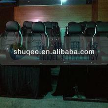 Lujo decoración 5D silla en movimiento de cine en 5d, 4D 5D asiento de cuero equipo