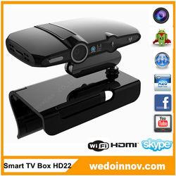 Wedo.com Smart TV Box HD22 RAM 1GB ROM 8GB 5.0MP Camera Android 4.2 OS Dual Core 2014 hot sale Android Box TV