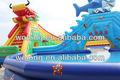 Gigante de diapositivas inflables del agua de la piscina con, piscina de agua inflable de diapositivas