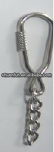 Fashion Metal carabiner type or PVC Key Chain