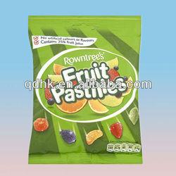 Rowntree's fruit pastilles back center sealing plastic bag