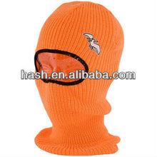 Winter knitted ski mask hat knitting pattern