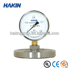 Shock proof Diaphragm pressure gauge/bottom type/all stainless steel