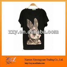 Cute Rabbit/Bat-sleeve tee Cotton T-shirt For Women 2014