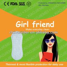 CE FDA ISO individually wrapped women slightly longer liner
