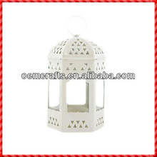 White fashion hotsale cemetery candle holders wholesale