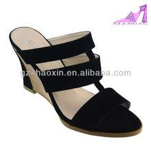Black casual women wedge heels sandals