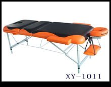 3 section PVC leather alu portable massage table