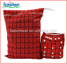Bamboo Waterproof Spider Man Wet Bag For Cloth Diapers