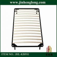 metal frame wooden slat bed