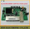 OEM/ODM 4p 10/100/1000M+1SFP Lay2 Port VLAN Gigabit switch PCBA Board Network switch