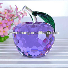 New design crystal apple for wedding or souvenir gifts