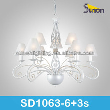 8 light modern white cheap glass european traditional indoor art glass chandelier lamp
