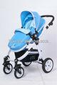 B858 Cuatro ruedas de cochecito de bebé (2 en 1) aluminio