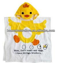 100% cotton breathable animal baby bath robe/kids bath robes