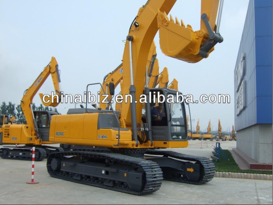 Xcmg 26 ton excavadora hidráulica xe260c/excavadora de control remoto