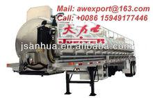 Double Axle 24CBM Aluminum Alloy Waste Water Vacuum Suction Tank Semi Trailer