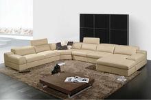 Commom sale home furniture sofa in guangzhou,U shape design A002-2
