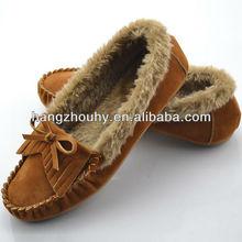 wholesale comfort 2014 fashion ladies flat winter shoes