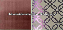 patterned hairline stainless steel 304, 316