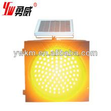 300diameter screw mounted yellow led solar flashing warning light