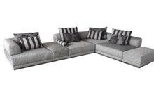 Soft sitting seat leisure design fabric sofa set 8051