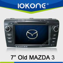 Doble din pantalla táctil de coches reproductor de DVD GPS navi para antigua Mazda 3